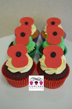 Anzac Day Cupcakes Anzac Day, Cake Flavors, Cake Decorating, Cupcakes, Seasons, Desserts, Food, Tailgate Desserts, Cupcake Cakes