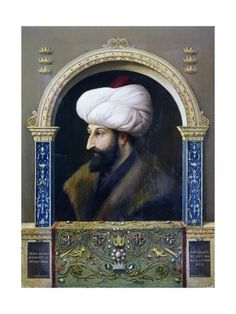 size: Giclee Print: Portrait of Mehmed II, Conqueror : Mehmed The Conqueror, Find Art, Framed Artwork, Giclee Print, History, Portrait, Ottoman, Poster, Painting