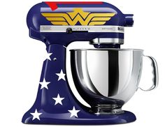 Amazonian Princess Wonder Woman-Inspired Decal Kit (for BLUE Kitchen Aid Stand Mixer) by C. Pease Design, $15 via Amazon.Com