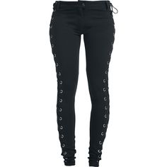 Eyelet Lace Up Pants von Gothicana by EMP