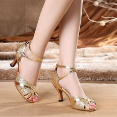[Visit to Buy] Women's Latin Dance Shoes Customize Heel PU Buckle Ballroom Silver Gold Dancing Shoes for Women Shoes 6419 Women's Shoes, Prom Shoes, Wedding Shoes, Ballet Shoes, High Sandals, High Heels, Stylo Shoes, Latin Dance Shoes, Dancing Shoes