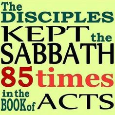 When did the biblical Sabbath change to Sunday...
