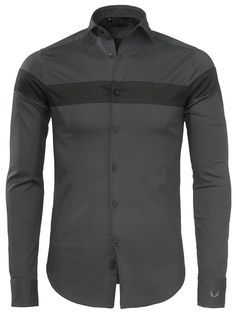Junin Zumo Shirt Long Slvs Dark Grey-Black - Shirts - Zumo International | Official Online Store | New Arrivals Men Shirts, Casual Shirts, African Fashion, Men's Fashion, Men Dress, Shirt Dress, Men's Clothing, My Outfit, Polo Shirt
