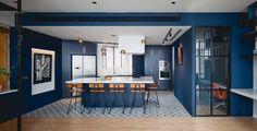 Blue Black Apartment island