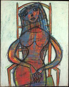 'A Widow' (1943) by Jean Dubuffet