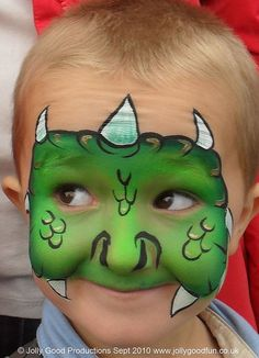 Dragon face paint... I can see them running around the house year round like this <3