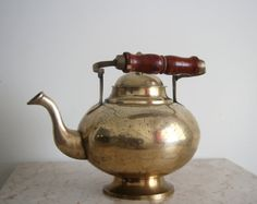 Vintage India Brass Teapot/Kettle For the Home by NoveltyandThings #SPSteam #CYBER15