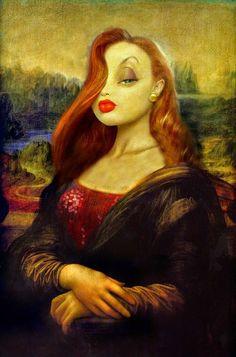 Il·lustració de Mahmoudz Noves versions il·lustrades de la Mona Lisa / Gioconda , una de les obres d'art més versionada de les histò...