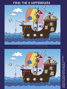 Game for children stock illustration. Pirate Activities, Halloween Activities For Kids, Elderly Activities, Dementia Activities, Educational Activities For Kids, Math For Kids, Book Activities, Games For Kids, Physical Activities