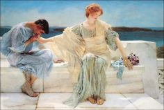 View Ask me no more by Sir Lawrence Alma-Tadema on artnet. Browse upcoming and past auction lots by Sir Lawrence Alma-Tadema. Lawrence Alma Tadema, Art And Illustration, Renaissance Kunst, Art Français, Dante Gabriel Rossetti, Painting Prints, Art Prints, Classic Paintings, Dutch Painters