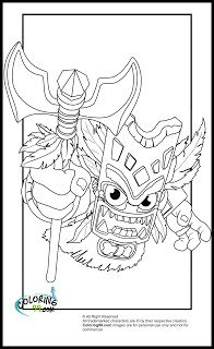 Skylanders Magic Element Coloring Pages