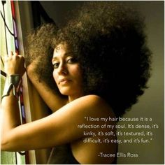 """Tracee Ellis Ross on Instagram: """"When you learn to love your hair, there is no such thing as a bad hair day. Or bad hair! #HairLove Photo by @LisaEisnerJewelry, and wearing my #ElsaPeretti for @TiffanyAndCo bracelet from @woolywilly"""""""