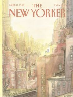 """The New Yorker - Monday, September 12, 1988 - Issue # 3317 - Vol. 64 - N° 30 - Cover by : """"Sempé"""" - Jean-Jacques Sempé"""