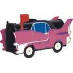 Pink Cadillac Mailbox - #1038 - Unique Hand-Made Novelty Mailbox - Holiday Gift #MoreThanAMailbox