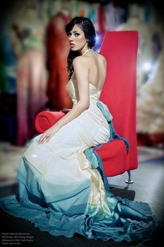 Ombre Bridal Gown Artistic Wedding Dress Dip by WaiChingBridal