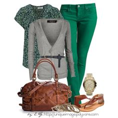 What to wear with green pants ; Coral Skinny Jeans, Green Skinnies, Green Jeans, Jean Outfits, Casual Outfits, Cute Outfits, Formal Outfits, Casual Clothes, Work Outfits