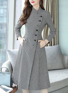 Buy Casual Dresses Midi Dresses For Women from Eau du Sud at Stylewe. Online Shopping Stylewe Formal Dresses Long Sleeve Casual Dresses Work A-Line Stand Collar Work Buttoned Dresses, The Best Daytime Midi Dresses. Discover unique designers fashion at sty Trendy Dresses, Elegant Dresses, Women's Dresses, Casual Dresses, Fashion Dresses, Skater Dresses, Formal Dresses For Women, Club Dresses, Dresses Online