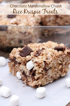 Extra thick, soft and gooey bars with chunks of marshmallow and chocolate!