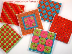 I could make these forever!  Using larger stitches makes stitching go quite quickly. gingerbreadsnowflakes.com/node/698