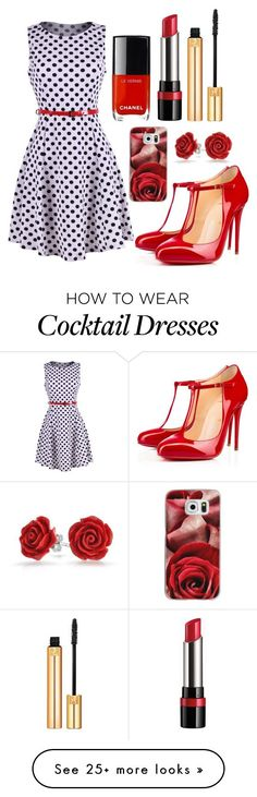"""""""Outfit #651"""" by ivanna1920 on Polyvore featuring 2LUV, Christian Louboutin, Rimmel, Yves Saint Laurent, Casetify and Bling Jewelry"""