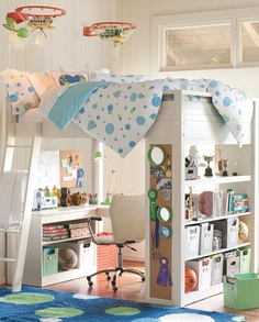 This would be so fantastic for Tabby's room and give her so much space- and since she's already used to the top bunk.... but I don't think it's going to happen with all the stuff we need to do right now- but do love this bed/space saver!
