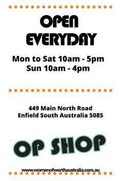 W.O.W OP Shop OPEN EVERYDAY