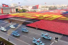 North Korea stages a military parade in Kim Il Sung Square in Pyongyang on Oct. 10, 2015, to mark the 70th anniversary of the founding of the ruling Workers' Party.