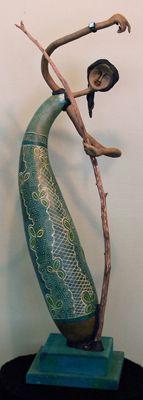 Gourd artist Jennifer Jones Zingg