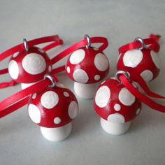 Red Mushroom ornaments