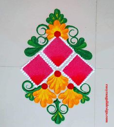 50 Parashurama Jayanti Rangoli Design (ideas) that you can make yourself or get it made during any occasion on the living room or courtyard floors. Diwali Special Rangoli Design, Easy Rangoli Designs Diwali, Indian Rangoli Designs, Rangoli Designs Latest, Simple Rangoli Designs Images, Rangoli Designs Flower, Free Hand Rangoli Design, Rangoli Border Designs, Small Rangoli Design