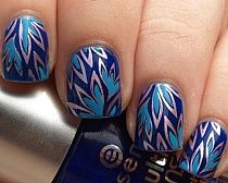 Blue nail art and blue nails color, is a color which fit very well with jeans. Though blue color is superb, you need to get good ideas to get wonderful nail art. Marble blue nail designs look awesome. Get Nails, Fancy Nails, How To Do Nails, Pretty Nails, Hair And Nails, Essie, Do It Yourself Nails, Bridal Nail Art, Uñas Fashion