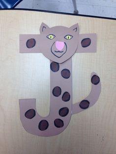 J for jaguar letter crafts for kids Letter j crafts