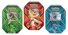 Pokemon Tcg Hoenn Power Tin: mIn this tin, you'll find: • 1 of 3 special foil Pokémon-EX cards— Sceptile-EX, Blaziken-EX, or Swampert-EX! • 4 Pokémon TCG booster packs! • A code card to unlock an online, playable deck featuring one of these Pokémon-EX in the Pokémon Trading Card Game online!