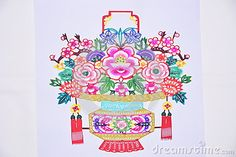 China paper-cut flowers is produced by farmers in Shaanxi, with the real flower like shape, bright color, very cute.