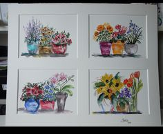 Summer planting...watercolour on paper by Sheila Horrocks