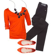 Bold orange paired with black is such a fun combo for late summer, early fall! #gordmans #mygordmansstyle
