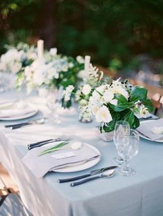 Green and Ivory Centerpiece | photography by http://www.krystleakin.com/