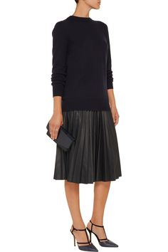 Zeyn pleated leather skirt | Theory | 54% off | US | THE OUTNET