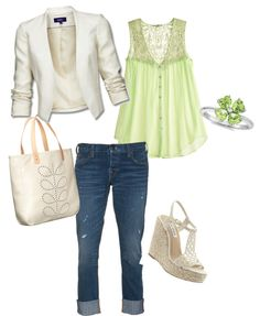Mint Green and White, created by jamie-preston on Polyvore
