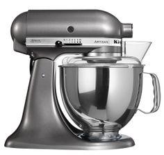 De KitchenAid Artisan mixer metallic grijs in de aanbieding !