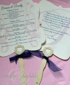 If you have an outdoor summer wedding, your guests will be glad you made these classy and practical DIY wedding programs.#DIYweddingideas