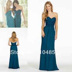 Online Shop 5424 Custom-made sleeveless sweetheart a-line floor length peacock bridesmaid dresses Aliexpress Mobile