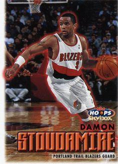 RARE 99/00 SKYBOX NBA HOOPS DAMON STOUDAMIRE PORTLAND TRAILBLAZERS MINT #PortlandTrailblazers