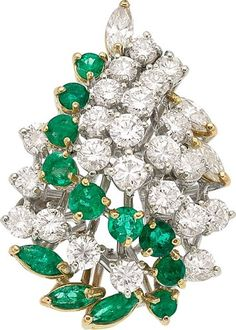Estate Jewelry:Rings, Diamond, Emerald, Gold Ring The ring features ... Heart Jewelry, Fine Jewelry, Jewelry Box, Titanic Jewelry, Beautiful Diamond Rings, Marquise Cut Diamond, Emerald Jewelry, Pandora Jewelry, Pandora Charms
