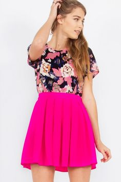 Hot Pink Bubble Skirt