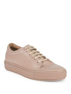 Acne Studios - Adriana Turnup Leather Sneakers