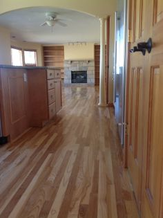 Light wood flooring what color to paint walls hickory for Hardwood floors cupping