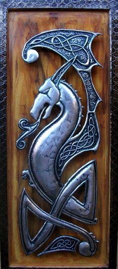Celtic: #Celtic dragon decorative art.