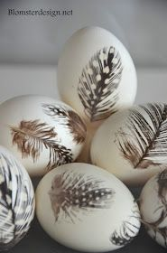 Nice idea to glue on real feathers.