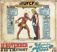 Ilustrador cria paródia da UFC com personagens de desenho animado